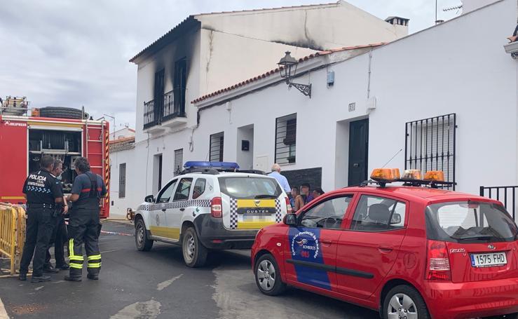 Arde una vivienda en Los Santos de Maimona