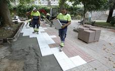 Renuevan el pavimento en Calvo Sotelo