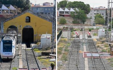 La obra del taller de reparaciones de trenes de Renfe en Badajoz continúa parada