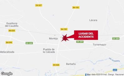 Un hombre resulta herido grave en un accidente de moto en Montijo