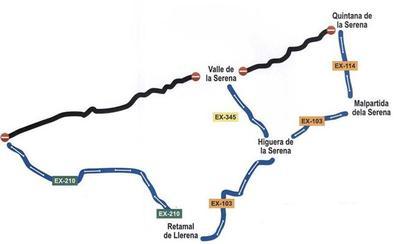 La carretera BA-113 de Quintana a la EX-210 estará cortada hasta el 15 de septiembre