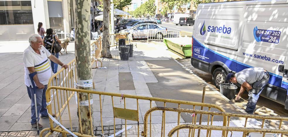 Ricardo Carapeto de Badajoz hace aguas por el subsuelo