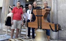 Llega a Valencia la réplica de una campana del siglo XVIII fundida en Montehermoso