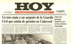 Un toro mata a un guardia civil que estaba de permiso en Cañaveral