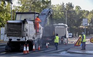 Las obras en la carretera de Circunvalación de Badajoz durarán hasta el viernes