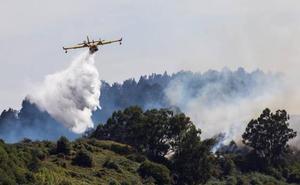 La Brigada de Incendios Forestales de Pinofranqueado se suma al dispositivo de extinción del fuego de Gran Canaria