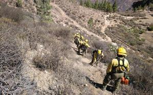 «Estamos muy contentos por estar en Gran Canaria y luchar contra este incendio»