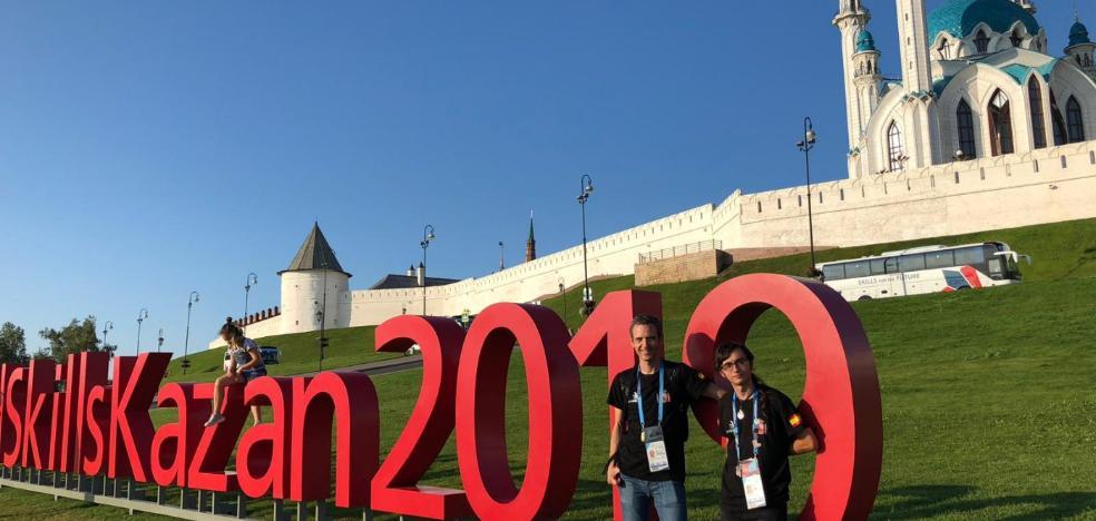 Alejandro Torrejón ya está en Rusia para competir en la 'WorldSkills'