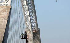 Continúan los trabajos en el puente Lusitania de Mérida