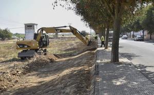 Comienzan las obras para ampliar el acerado de la Ronda Norte de Badajoz