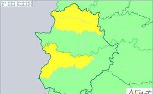 Aviso amarillo por altas temperaturas este sábado en las Vegas del Guadiana y el norte de Cáceres