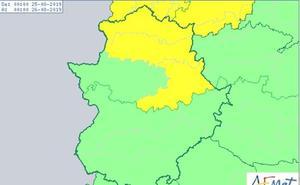 Alerta amarilla por tormentas este domingo en la provincia de Cáceres