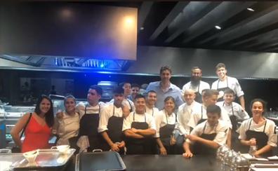 Pau Gasol disfruta en Cáceres de la gastronomía extremeña