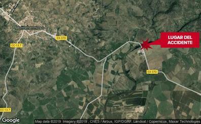 Cuatro jóvenes heridos en una salida de vía de la Ex-370, entre Montehermoso y Sartalejo