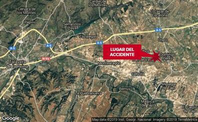 Un tren de la línea Madrid-Zafra arrolla a un coche y causa dos heridos