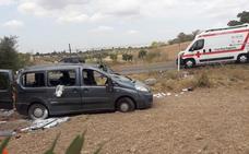 Herido leve en una salida de vía cerca de Almendralejo