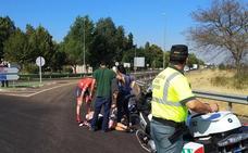 Herido un ciclista tras ser arrollado en la N-V a la altura de Villafranco del Guadiana