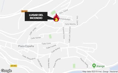 Un incendio en una vivienda en Alange provoca daños materiales y una mujer atendida por crisis de ansiedad
