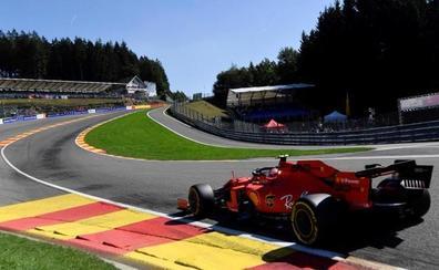 Leclerc y Vettel tiñen de rojo Spa