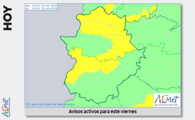 El norte de Cáceres y las Vegas del Guadiana están este viernes en alerta por calor