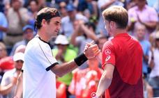 Roger Federer avanza a cuartos fulminando a Goffin
