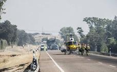 El incendio de Campomanes obligó a cortar la carretera de Sevilla