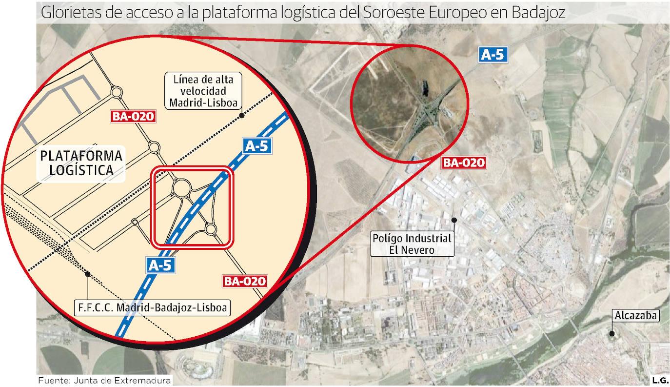 La Junta aprueba la ocupación de bienes para construir la terminal ferroviaria de la plataforma logística