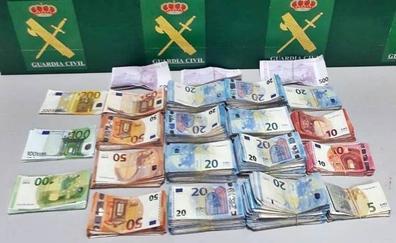 La Guardia Civil interviene 115.000 euros sin declarar en la zona fronteriza de Caya