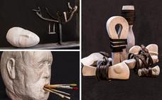 José Luis Hinchado abre su exposición de esculturas en la Noche en Blanco