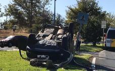 Aparatoso accidente en la carretera de Valverde de Badajoz