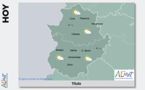 La Aemet no descarta lluvias dispersas en el sureste de Extremadura