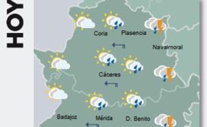 Extremadura espera este viernes lluvias que pueden ser fuertes
