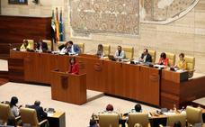 Ampliación de la mesa de la Asamblea de Extremadura