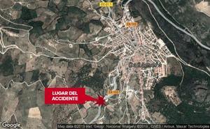 Un motorista de 43 años resulta herido en una caída en Cañamero
