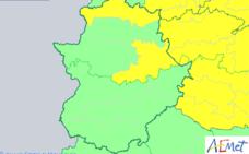 Alerta amarilla por lluvias este sábado en la provincia de Cáceres