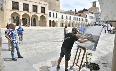 El Casco Antiguo de Badajoz visto al óleo