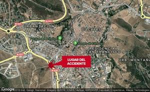 Herido «menos grave» un motorista en un accidente de tráfico en Cáceres