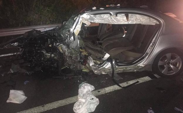El otro vehículo implicado en la colisión:: HOY