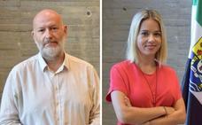 Luis Sáez y Virginia Aizkorbe, responsables de la Editora Regional y el Plan de Fomento de la Lectura