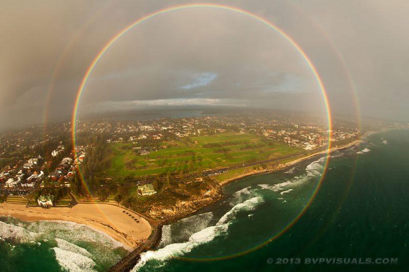 ¿Sabías que los arcoíris son círculos completos?