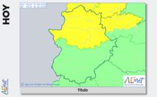 Toda la provincia de Cáceres está en alerta por lluvias y tormentas