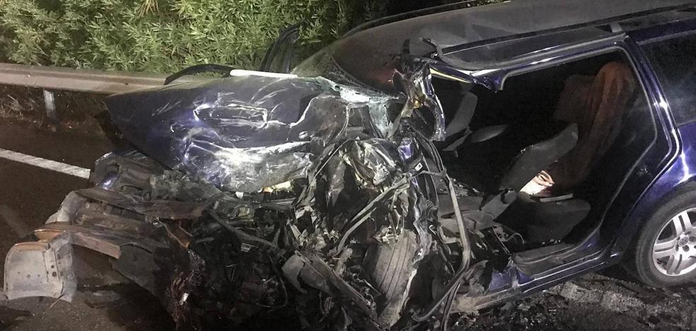 El joven contra el que chocó el conductor que murió el domingo ha perdido un pie