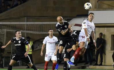 El Sevilla supera con nota su viaje a Azerbaiyán
