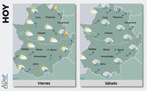 Fin de semana con lluvias y bajada de las temperaturas en la región
