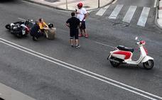 Motorista herido leve en la calle Gil Cordero