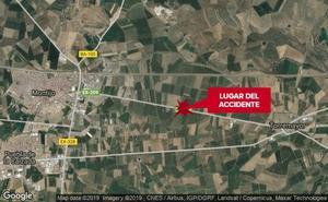 Un hombre de 52 años resulta herido grave al salirse de la carretera cerca de Montijo