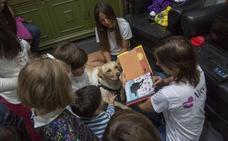 El perro que ayuda a leer a los niños