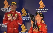 Ferrari entrega la victoria a Vettel a costa de Leclerc