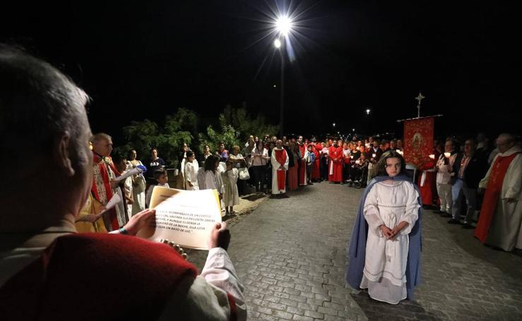 El Via Martyrum de Santa Eulalia recreó el camino que hizo con sus 12 paradas