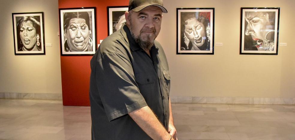 Gene García le pone cara al cante jondo en su segunda exposición de pintura